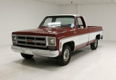 1976 GMC 1500 Pickup Project Truck/350ci V8/Maroon and White/Good Interior