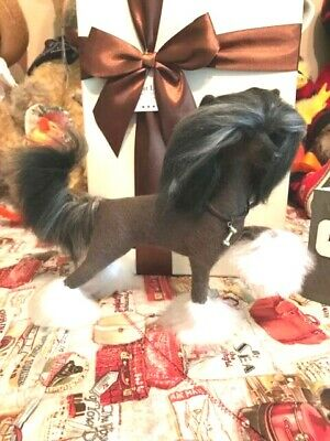 OOAK Chinese Crested Dog Hairless Felted by Artist Darina Matasova Buy It Now