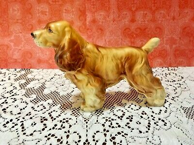 Vintage Springer Spaniel Dog Figurine Japan