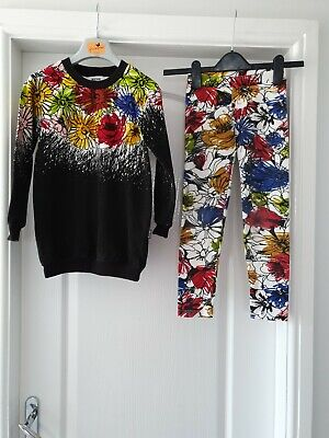 Moschino Outfit jumper Leggings & Top Age 8 Years Girls