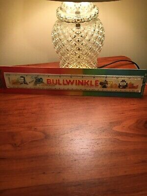 Vintage Bullwinkle and Rocky Plastic Ruler