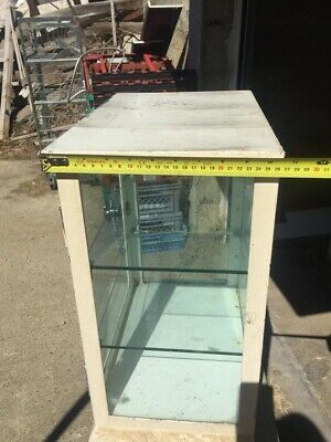 vintage industrial Medical Glass / Metal Wall Cabinate 1970s