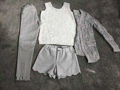 Girl's River Island Zara outfit set bundle 7-8 Grey Silver Excellent condition