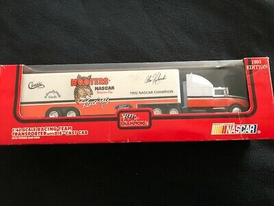 Vintage 1993 Edition HOOTERS Nascar Champion Ford Transporter w/Die Cast Cab
