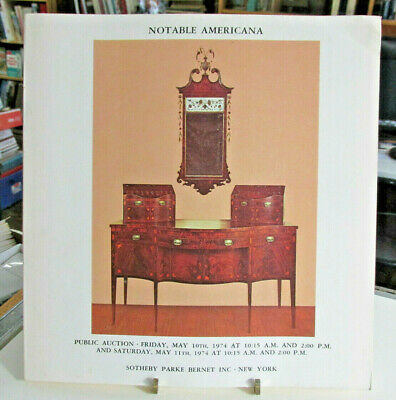 1974 SOTHEBY,PARKE BERNET AMERICANA Auction Catalog, Furniture Paintings Decoys