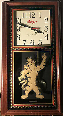Vintage Kellogg's Tony The Tiger Pendulum Wall Clock 2001