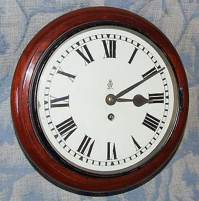 * AUTHENTIC Mahogany GPO Chain Fusee Wall Clock with 10 INCH Dial