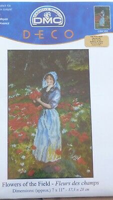 "'Flowers of the Field' DMC Counted Cross Stitch Kit BK160 Size 7"" x 11"""