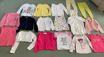 Girls Bundle Of Clothes Age 5-6 Years Next Leggings Cardigan Tshirt Hoody