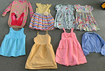 Girls Bundle Of Clothes Age 5-6 Years Summer Dresses Cardigan Next