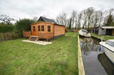 Norfolk Broads Freehold mooring and log cabin
