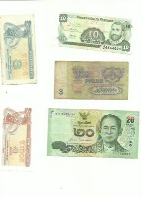 Lot of 13 Vintage Mixed Foreign World Currency Paper Money FREE SHIPPING!!!!!!