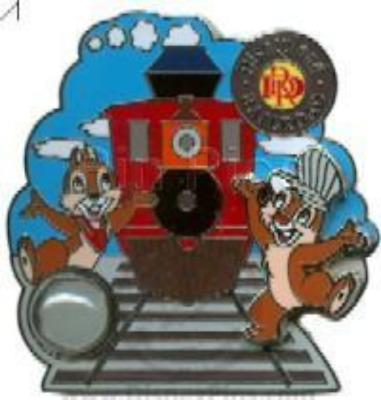 Disney Pin 67660 DLR Piece of Disney History I Disneyland Railroad CHIP & DALE *