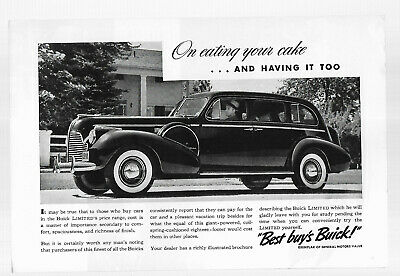 """Magazine Advertisement for 1940 Buick Limited; 7"""" x 10"""""""