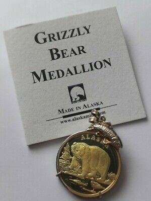 Alaska Mint Silver Grizzly Bear Medallion