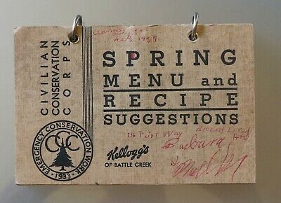 1933 Kellogg's, Civilian Conservation Corps, Spring Menu & Recipe Suggestions