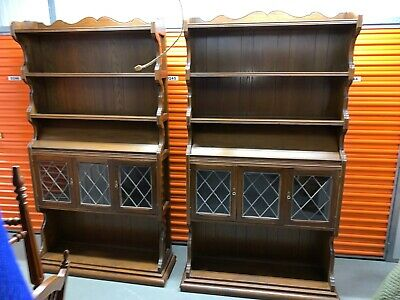 *FREE SHIPPING**Pair of Ethan Allen Royal Charter Oak Bookcases/Library Units