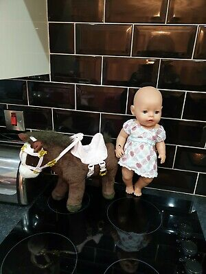 Baby Born Doll And Walking horse