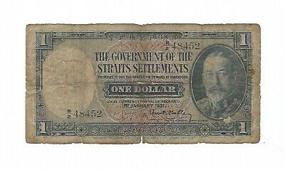 Straits Settlements - One (1) Dollar , 1931
