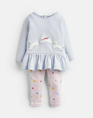 Joules Baby Girls Olivia   Applique Top And Trousers Set -  Size 9m-12m