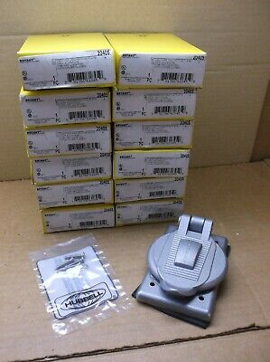 20405 Bryant Hubbell NEW In Box Cast Aluminum Protective Receptacle Cover