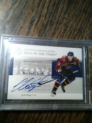 Ilya Kovalchuk - 2004-05 Sp Authentic Sign Of The Times Card # St-Ik . Bgs 9.5 .