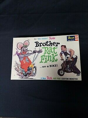 1964 Ed Big Daddy Roth Brother Rat Fink Revell Model Kit Complete In Vintage Box