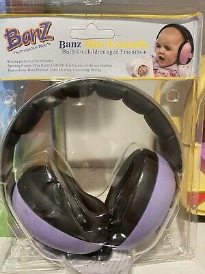 Baby Banz Plastic Hearing Protection Earmuffs for Infants Ages 0-2+ - Purple