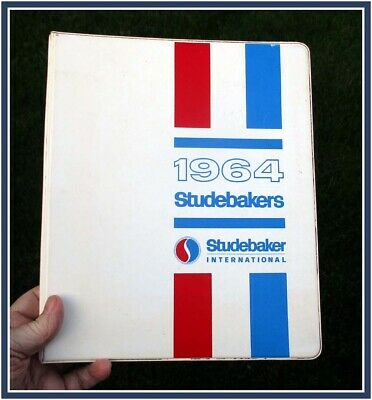 1964 Studebaker 3 ring hard cover binder w 33 pages & 4 8X10 photos for overseas