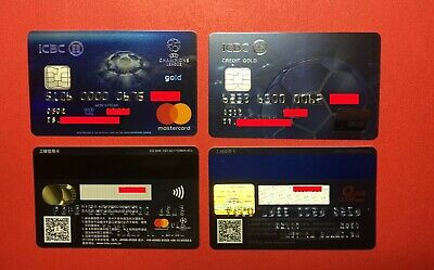 CA0190 China ICBC Chip Credit cards UEFA CHAMPIONS LEAGUE 2pcs