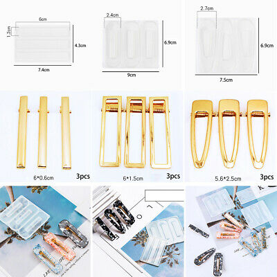 Personality Hairpin mould Hairpin DIY Crystal Epoxy Silicone Practical