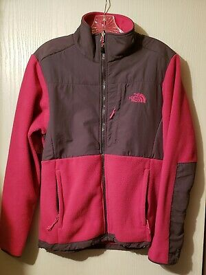 The North Face Womens Fleece Large Jacket Grey/pink