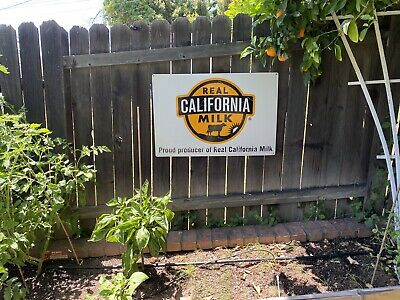 Real California Milk Double Sided Metal Sign