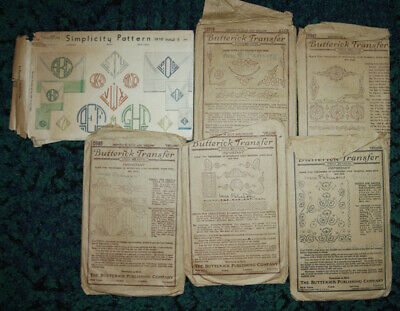 6 Butterick Embroidery Transfer Sewing Pattern Arts & Crafts Deco Edwardian E