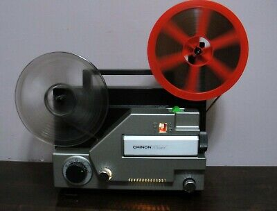 CHINON WHISPER Stand 8mm & S 8 Variable Speed Movie Projector  ~SERVICED~