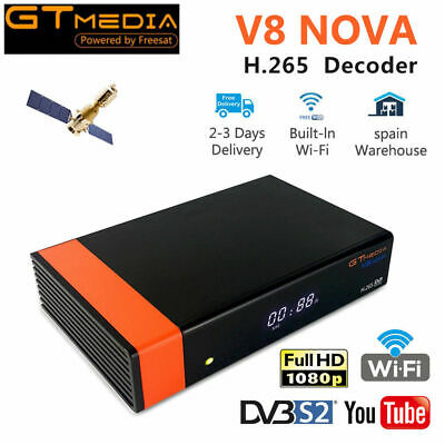 Gtmedia  Satellite TV Receiver V8 Nova Super DVB-S/S2 AV Built Wifi Full HD