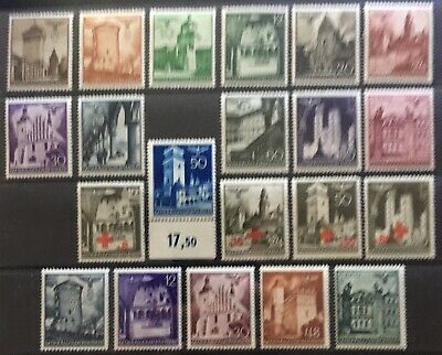 Germany: General Government 1940-1941 Castles & Buildings MNH/MLH