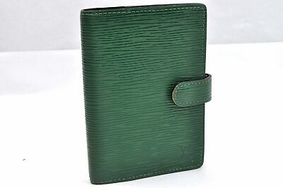 Authentic Louis Vuitton Epi Agenda PM Day Planner Cover Green LV 97173