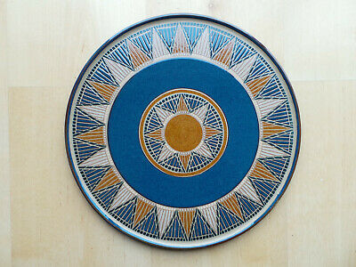 "Denby Boston Spa Large 12.5"" Round Serving Platter Charger Pizza Plate"