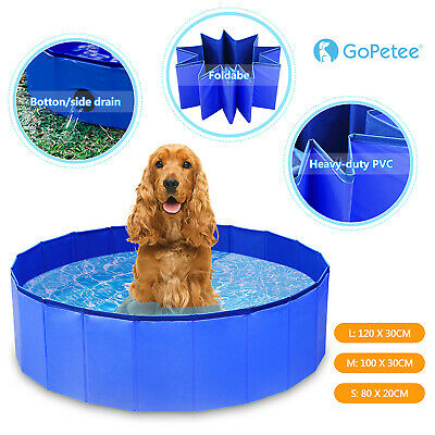 Portable Pet Bath Pool Foldable PVC Swimming Pool Dog Paddling Bathing Water Tub