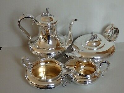 MAGNIFICENT GEORGIAN STERLING SILVER TEA AND COFFEE SET - LONDON 1829 - 1983 g