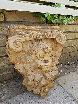 Decorative Stone effect Resin Cherub Wall Bracket Sconce Shelf
