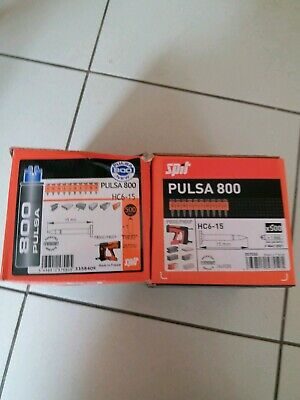 Spit pulsa 800 HC6-15 15mm nails.  Nails And Gas 2 boxes