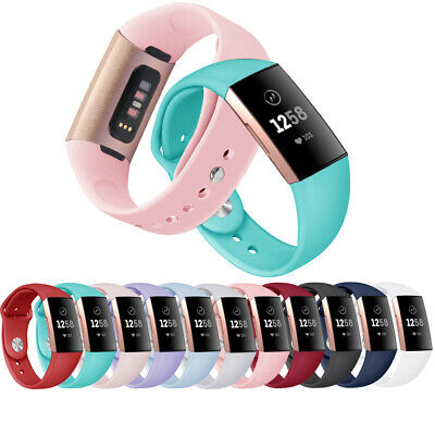 Colorful Watch Band Replacement Strap Bracelet Silicone For Fitbit Charge 3