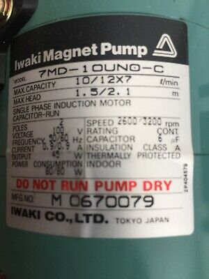 Iwaki Punmp New 7 MD-1 OUND-C New In Original Packing
