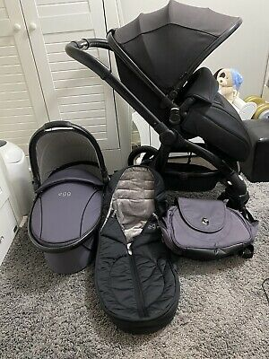 EGG pram JUST BLACK Seat Pushchair STORM GREY Carrycot   babystyle