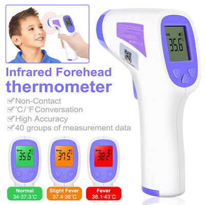 Medical Non-Contact Infrared Thermometer LCD Digital Forehead Body Fever Adult