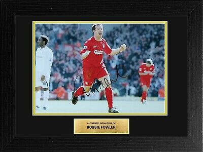 Robbie Fowler Liverpool Football EPL Framed Signed Autograph Photo