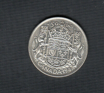 1947 Canada 50 Cents Coin