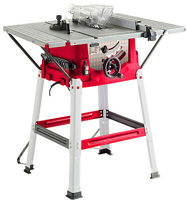 """Lumberjack 8"""" Bench Table Saw with Side Extension & 210mm 40T Blade 1500W 240V"""